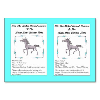 Nix The Nickel-Horned Unicorn Trading Card