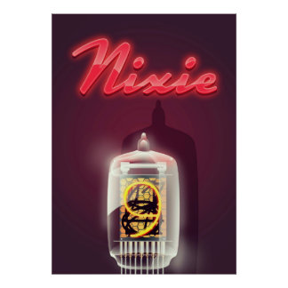 Nixie Tube vintage poster