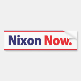Nixon 1972 ahora hace campaña pegatina para el par etiqueta de parachoque