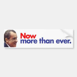 Nixon 1972 ahora más que nunca pegatina para el pa pegatina para auto