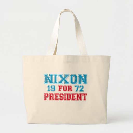 Nixon 1972 election canvas bag