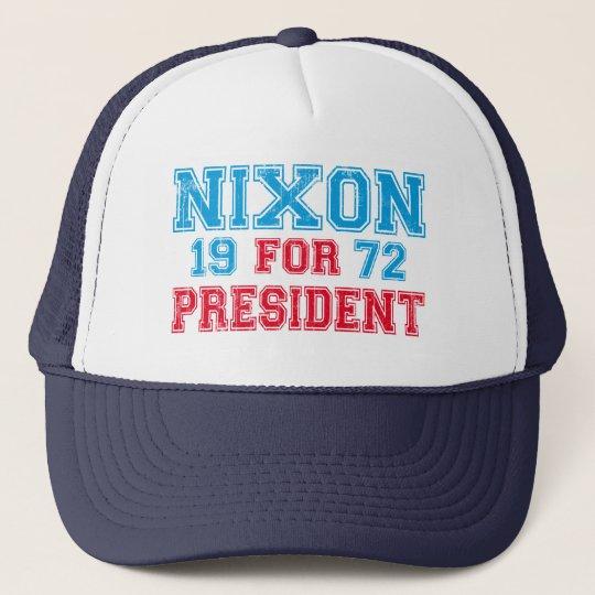 Nixon 1972 election trucker hat
