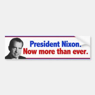 Nixon ahora más que nunca etiqueta de parachoque