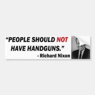 Nixon Anti-Gun Bumper Sticker