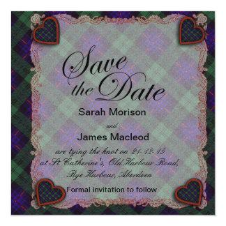 Nixon clan Plaid Scottish kilt tartan Card