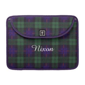 Nixon clan Plaid Scottish kilt tartan Sleeves For MacBook Pro