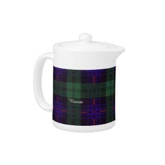 Nixon clan Plaid Scottish kilt tartan Teapot