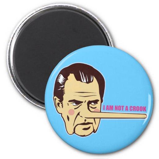 Nixon, I am not a Crook 2 Inch Round Magnet