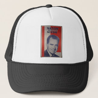 Nixon in 2012 trucker hat