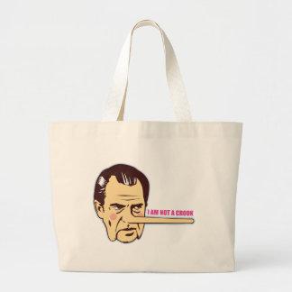 Nixon, no soy ladrón bolsa tela grande