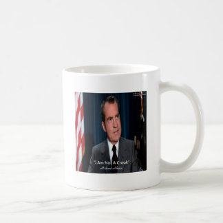 Nixon & Not A Crook Quote Coffee Mug