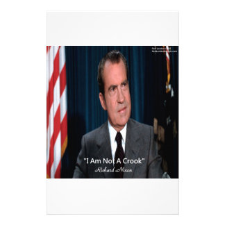 Nixon & Not A Crook Quote Stationery