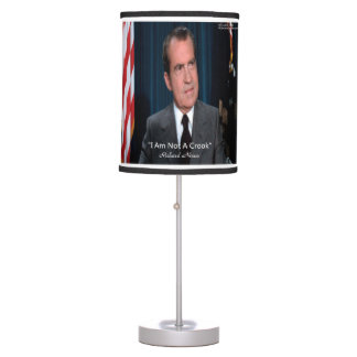 Nixon & Not A Crook Quote Table Lamp