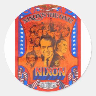 Nixon Round Stickers