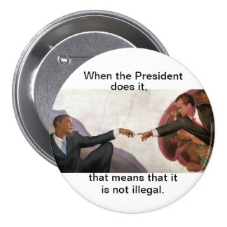 Nixon y Obama: Compañeros del alma Pin Redondo De 3 Pulgadas