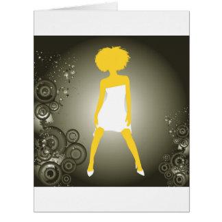 Niza chica precioso tarjeta