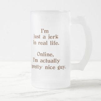 Niza individuo en línea taza cristal mate