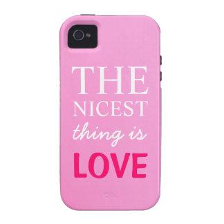 Niza la cosa es caso del iPhone 4 4S del amor Vibe iPhone 4 Carcasa