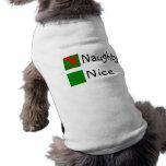 Niza navidad travieso camisas de perritos