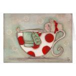 Niza una taza de té - tarjetas de nota