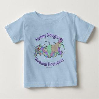 Nizhny Novgorod Russia Map Baby T-Shirt
