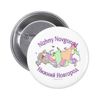 Nizhny Novgorod Russia Map Pinback Buttons