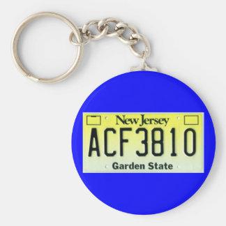 NJ92a Basic Round Button Keychain