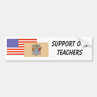 NJ--Apoye a nuestros profesores Pegatina Para Auto