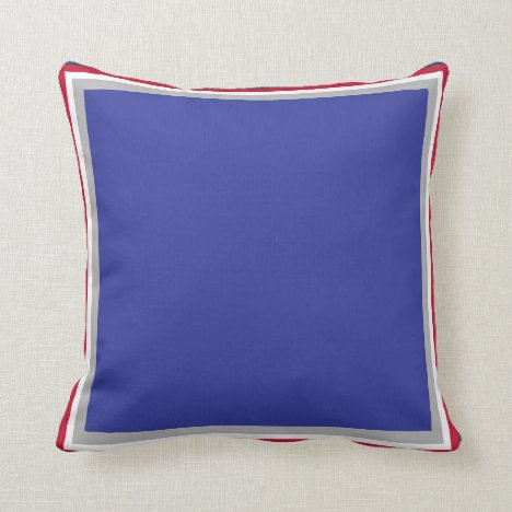 NJ Blue Throw Pillow