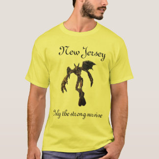 NJ Devil, New Jersey, Only the strong survive T-Shirt