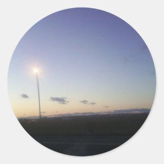 NJ Evening Sky Classic Round Sticker