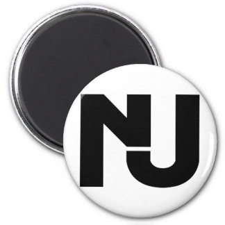 NJ Graphic 2 Inch Round Magnet