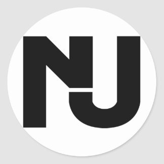 NJ Graphic Classic Round Sticker