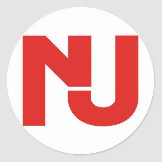NJ Graphic (Red) Classic Round Sticker