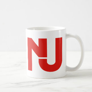 NJ Graphic (Red) Classic White Coffee Mug