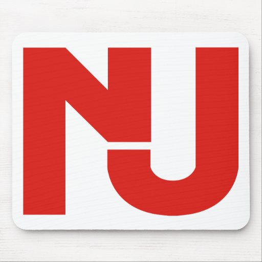 NJ Graphic (Red) Mousepads