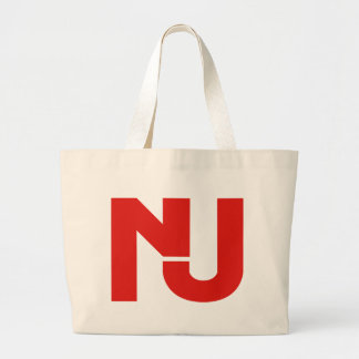 NJ Graphic (Red) Tote Bags