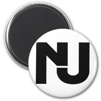 NJ Graphic Refrigerator Magnet