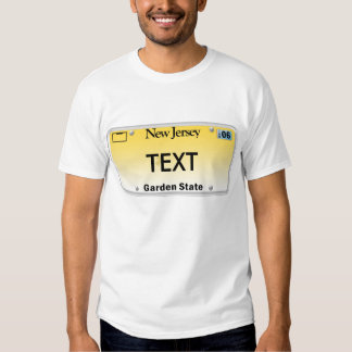 NJ License Plate T-shirts