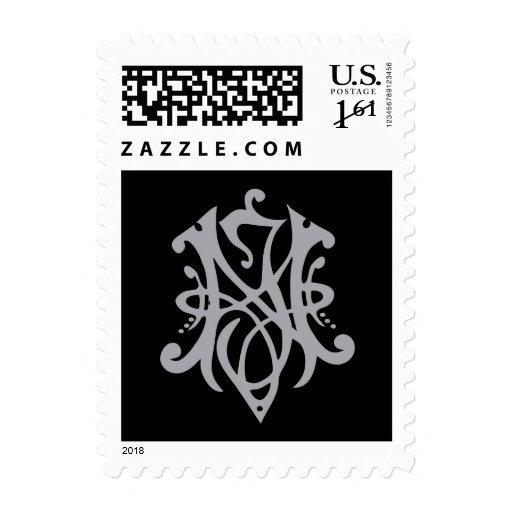 NJ monogram Postage Stamps