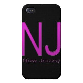 NJ New Jersey magenta iPhone 4 Cases