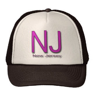 NJ New Jersey magenta Trucker Hat