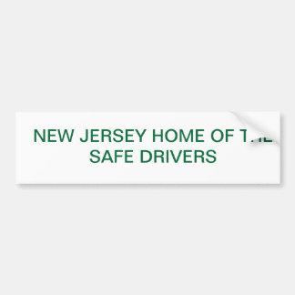 NJ Safe drivers Bumper Sticker