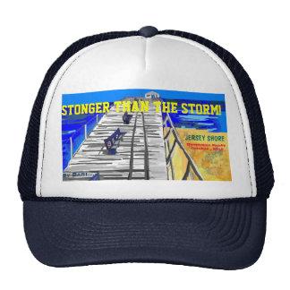 "NJ Shore Boardwalk ""Stronger than the Storm"" Cap Mesh Hats"