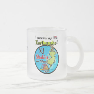 NJ - Survived the Earthquake 2011 Frosted Glass Coffee Mug