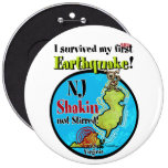NJ - Survived the Earthquake 2011 Pinback Button