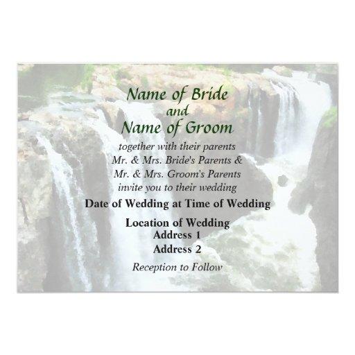 NJ - Waterfall Paterson NJ Wedding Supplies Custom Invites