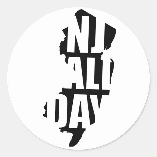 njallday classic round sticker
