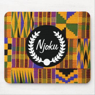 Njoku African Print 'Wreath' Mousepad. Mouse Pad