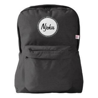 Njoku Black Wreath Backpack. Backpack